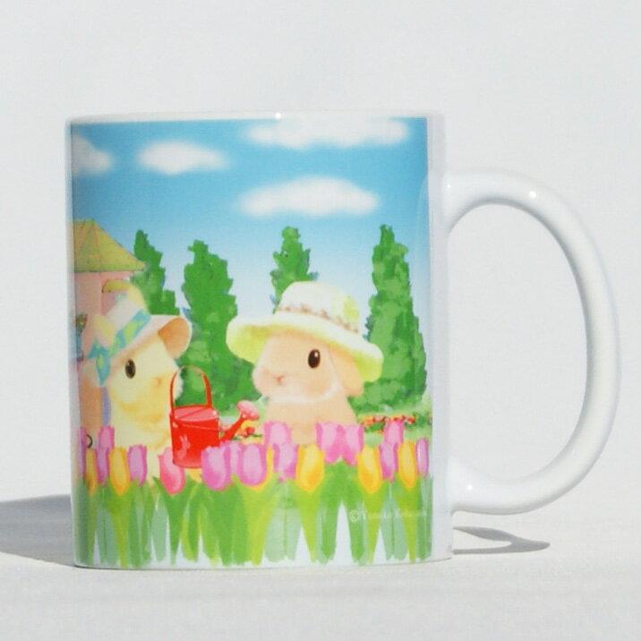 うさぎ マグカップ チューリップ かわいい 小林裕美子 うさぎ雑貨 日本製 【あす楽対応】