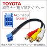 トヨタ純正ナビ VTRアダプターメス端子20cmRCAタイプであらゆる機器に対応【メール便 送料無料】