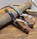 エスニック織物!長さ調節可能ハーフチョーク【小型犬】DM便で送料無料