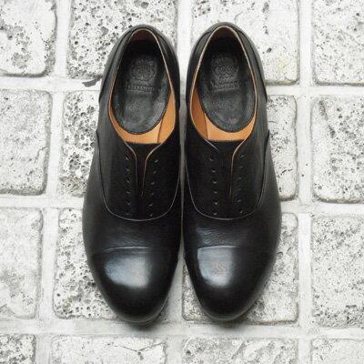 【送料無料】【再入荷】chausser/ショセ C2175レースアップマニッシュシューズブラック ground 靴 