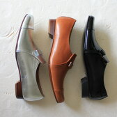 【送料無料】【再入荷】【2016秋冬】chausser(ショセ) C-2202リボン付きオペラマニッシュシューズエナメルブラックシルバー|ground|靴|