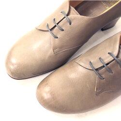 【再入荷】chausser(ショセ)C2223サケットレースアップパンプスグレイ【送料無料】ground|靴