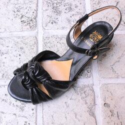 【2015春夏】chausser(ショセ)C2221ドレスサンダルブラック【送料無料】ground|靴