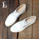 ショッピング送 LucaGrossiルカグロッシマニッシュシューズレディース女性用D725Mチュールチュールウイングチップシューズ厚底レザーシューズホワイトground靴 レビューキャンペーン実施中
