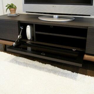 P19Jul15BNテレビ台160cmテレビボードローボードカラー|ブラック黒木目ありサイズ|幅160奥行45高さ40cm生産国|国産日本製主素材|ウォールナット無垢材北欧モデム収納TV台150165170完成品32型