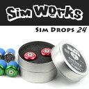 【即納可】SimWorks/シムワークス Sim Drops 24 バーエンドキャップ ロードバイク/自転車/ドロップハンドル
