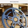 White industries/ホワイトインダストリーズ VBC CHAIN RINGS チェーンリング アウター38T〜52T ブラックアノダイズド 自転車/サイクリング