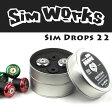 【即納可】SimWorks/シムワークス Sim Drops 22 バーエンドキャップ MTB/自転車/マウンテンバイク