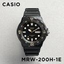 CASIO SPORTS ANALOGUE MENS カシオ スポーツ アナログ メンズ MRW-200H-1E 腕時計 チープカシオ チプカシ プチプラ 防水 ブラック 黒 日本未発売