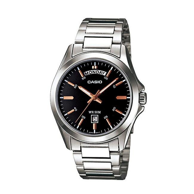 CASIO STANDARD ANALOGUE MENS カシオ スタンダード アナログ メンズ MTP-1370D-1A2 腕時計 チープカシオ チプカシ プチプラ ブラック 黒 シルバー 海外モデル