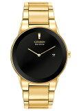 【ソーラー】CITIZEN ECO-DRIVE AXIOM MENS シチズン エコドライブ アクシアム メンズ AU1062-56E 腕時計 時計 逆輸入 ゴールド 金 ブラック 黒 日本未発売