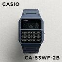 【10年保証】CASIO カシオ スタンダード CA-53WF-2B 腕時計 メンズ レディース キッズ 子供 男の子 女の子 チープカシオ チプカシ デジタル 日付 データバンク カリキュレーター ネイビー ブラック 黒