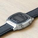 CASIO STANDARD DIGITAL LADYS カシオ スタンダード デジタル レディース LA670WL-1B 腕時計 チープカシオ チプカシ プチプラ シルバー ブラック 黒 レザー 革ベルト 日本未発売