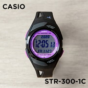 CASIO PHYS DIGITAL カシオ フィズ デジタル STR-300-1C 腕時計 メンズ レディース ランニングウォッチ ブラック 黒 パープル 紫