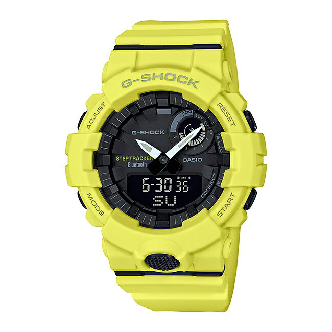 CASIO G-SHOCK カシオ Gショック Gスクワッド GBA-800-9AJF 腕時計 メンズ キッズ 子供 男の子 ランニングウォッチ アナデジ ブルートゥース 防水 イエロー 黄色 ブラック 黒