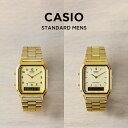 【10年保証】【日本未発売】CASIO カシオ スタンダード 腕時計 メンズ レディース キッズ 子供 男の子 女の子 チープカシオ チプカシ アナデジ 日付 ゴールド 金 海外モデル
