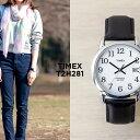 【日本未発売】TIMEX タイメックス イージーリーダー 35MM T2H281 腕時計 メンズ レディース アナログ シルバー ホワイト 白 レザー 革..