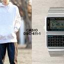 【10年保証】CASIO カシオ データバンク DBC-611-1 腕時計 メンズ レディース キッズ 子供 男の子 女の子 デジタル シルバー ブラック 黒