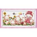 クロスステッチ 刺繍キット HAPPY PIG'S FAMILY クロスステッチキット クロスステッチ ししゅう糸 刺繍糸 刺繍針 刺繍キット