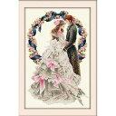 クロスステッチ 刺繍キット Happy Wedding クロスステッチキット クロスステッチ ししゅう糸 刺繍糸 刺繍針 刺繍キット