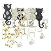 クロスステッチ 刺繍キット love six cats キット 初心者 楽天 ねこ 猫 猫柄 刺繍(DMC 刺繍糸)クロスステッチキット クロスステッチ ししゅう糸 刺繍糸 刺繍針 刺繍キット