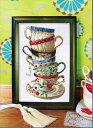 クロスステッチ刺繍キット コーヒーカップ 図柄印刷