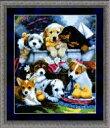 クロスステッチ刺繍キット 小犬仲間