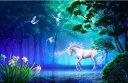 クロスステッチ 刺繍キット DMC糸 布地に図柄印刷 FOREST WHITE HORSE ししゅう糸 刺繍糸
