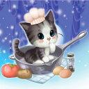 カラービーズ ストーン画 子猫 (cooking)