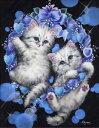 カラービーズ ストーン画 2匹の子猫
