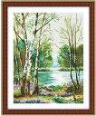 クロスステッチ 刺繍キット  布地に図柄印刷 林湖