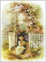 クロスステッチ刺繍キット DMC糸 ナチュラルガーデン少女 0747
