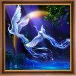 カラービーズ ストーン画  比翼の鳥