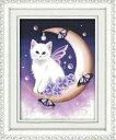 カラービーズ ストーン画 moon angel cat DIY