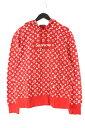 シュプリーム ルイヴィトン/SUPREME LOUISVUITTON 【17AW】【LV Box Logo Hooded Sweatshirt】ボックスロゴプルオーバーパーカー(L/レッド)【SB01】【メンズ】【511091】【中古】bb14 rinkan B