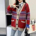 ショッピングセーター 秋新作 大きいサイズ レディース セーター ニット カーディガン カーデガン 韓国ファッション 長袖 ガーリー ゆったり 体型カバー オーバーサイズ 大人カジュアル