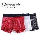 gravevault グレイブボールト Metallic Short Boxer メンズ 春夏 秋冬 ボクサーパンツ メタリック ラメ ブラック ホワイト レッド S-L 3051622