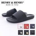 HENRY&HENRY ヘンリー&ヘンリー US EXCLUSIVE 180 STAR メンズ レディース シャワー スポーツ サンダル 無地 スタースタッズ ラバー イタリア 35-46 23.0cm-28.5cm