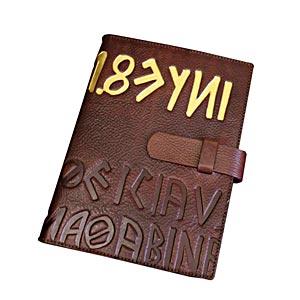 高級本革製システム手帳カバー【Ikuvina】A5サイズ・金装飾