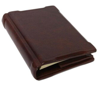 / Made in Italy leather system Handbook cover /A5 size / refills sold separately / products-:off-org-large-me-antique