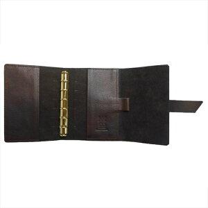 【OFFICINALIBRIS】イタリア高級本革製システム手帳カバー(リフィル別売)【RosaDorata】ミニ6穴サイズ