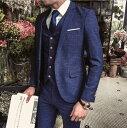 ショッピングイギリス お洒落 イギリス風 メンズセットアップスーツ 3点セット 上下セット 紳士シングルスーツ 結婚式 チェック柄 高級品 1ボタン ビジネス 大きいサイズあり