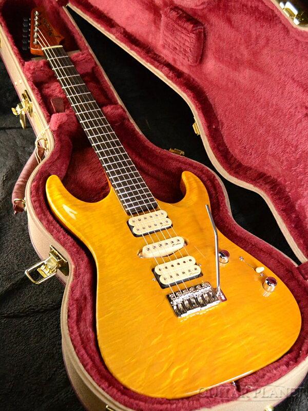 Marchione Set Neck Carve Top -Trans Amber- 新品[マルキオーネ][トランスアンバー][セットネック][カーブトップ][Stratocaster,ストラトキャスター][Electric Guitar,エレキギター]