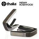Thalia Capos Exotic Wood INDIAN ROSEWOOD -Black Chrome- 新品 ギター用カポタスト[タリア][ローズウッド][ブラック,黒][Electric,Acoustic,Bass,Guitar]