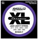 D'Addario 11-65 ECG24-7 Chromes Jazz Light/7-string[ダダリオ][Chromes Flat Wound,クロームフラットワウンド][ジャズライト][7弦][エレキギター弦,string]