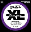 D'Addario 11-50 ECG24 Chromes Jazz Light[ダダリオ][Chromes Flat Wound,クロームフラットワウンド][ジャズライト][エレキギター弦,string]