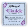 D'Addario EJ87C Titanium コンサートウクレレ弦セット[ダダリオ][EJ-87C][Concert Ukulele][String]