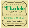 D'Addario J65 Clear Nylon ソプラノウクレレ弦セット[ダダリオ][J-65][ナイロン弦][Soprano Ukulele][String]