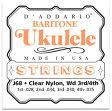 D'Addario J68 Clear Nylon バリトンウクレレ弦セット[ダダリオ][J-68][ナイロン弦][Baritone Ukulele][String]