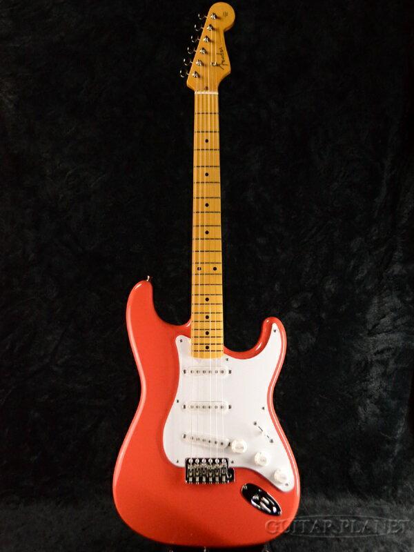 【ERNIE BALL4点セット付】【送料無料】Fender Japan Exclusive Classic 50s Stratocaster FRD (旧型番:ST57) 新品 フィエスタレッド[フェンダー][ジャパン][ストラトキャスター][Fiesta Red,フェスタレッド,赤][Electric Guitar,エレキギター]